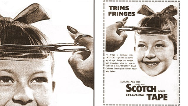Why Not Use Scotch Tape To Trim Your Bangs?