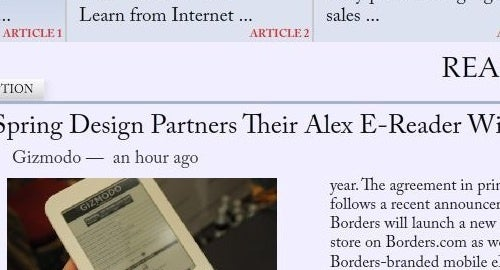 Readefine Gives Any Site or Feed a Newspaper Look