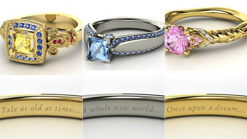 These Disney Princess Rings Are Hideous; I Want Them All