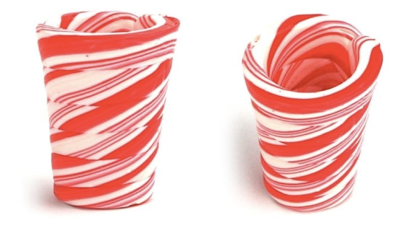 Drink Yourself Jolly With Candy Cane Shot Glasses