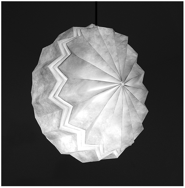 Beautiful Light Fixtures Folded From A Single Sheet Of Tyvek