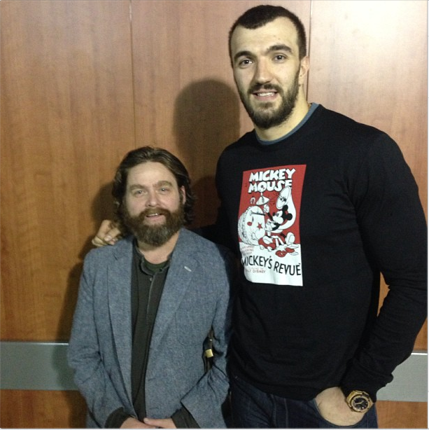 Zach Galifianakis Is Nikola Pekovic's Ventriloquist Dummy