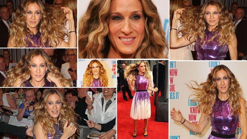 Sarah Jessica Parker Cannot Stop Touching Her Hair