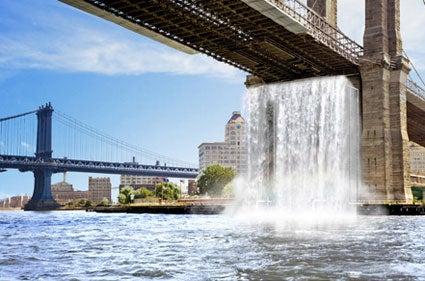 The Brooklyn Bridge Waterfalls Have Risen