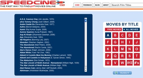 Search Speedcine to Watch Movies for Free