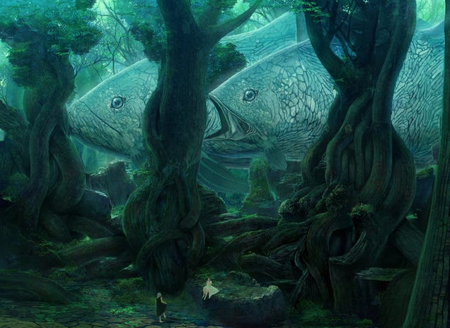 Concept Art Writing Prompt: Fish Among The Trees