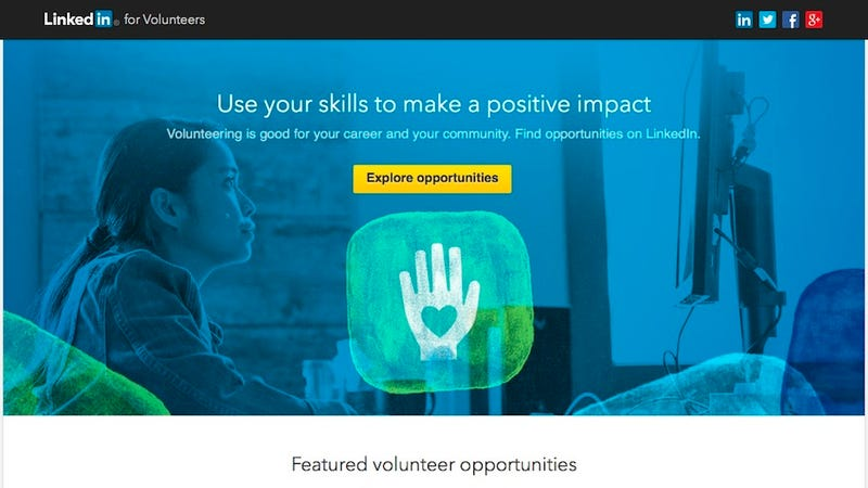 LinkedIn Can Connect You to Non-Profits for Volunteering Opportunities