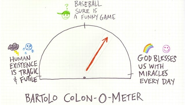Bartolo Colon-O-Meter: The Annihilation Of The Self Into A Greater Cosmos