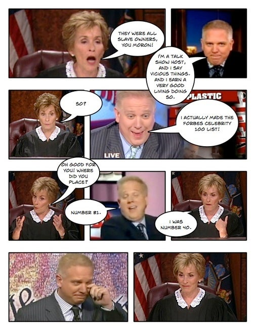 Comic Confrontations: Judge Judy Vs. Glenn Beck