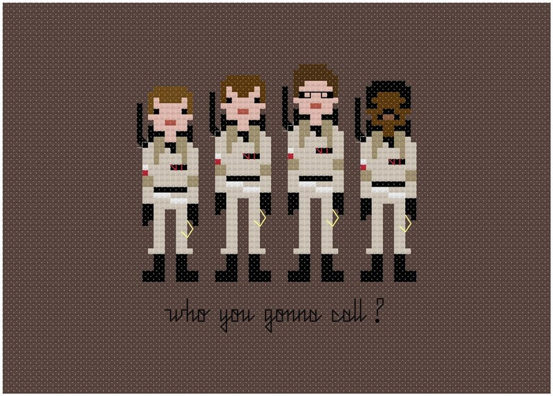 Embroidered samplers put scifi heroes in stitches