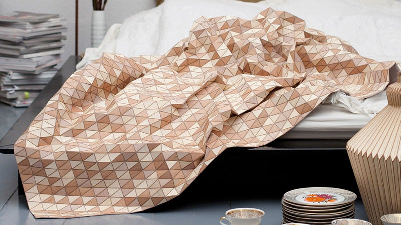 You Can Burn This Working Wooden Blanket For Extra Warmth In the Middle of the Night