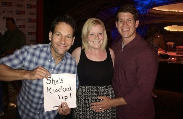 Nice Guy Paul Rudd Stars in Couple's Pregnancy Announcement