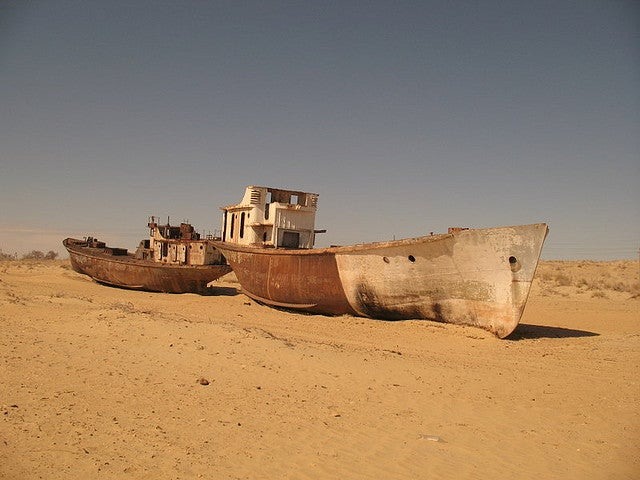 Abandoned Ships Stranded in the Desert