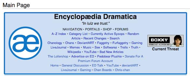 The Drama with Encyclopedia Dramatica