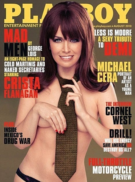 Mad Men's Deadliest Secretary Gets Naked for Playboy