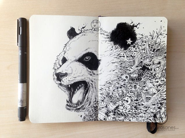 The extraordinary doodles of Kerby Rosanes