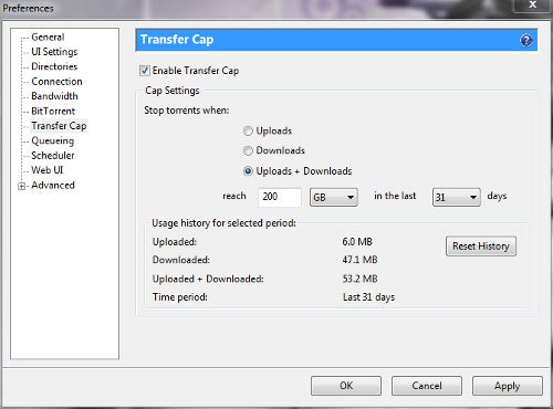 uTorrent 2.0 RC Brings Transfer Cap and UDP Support, Video Streaming to Come