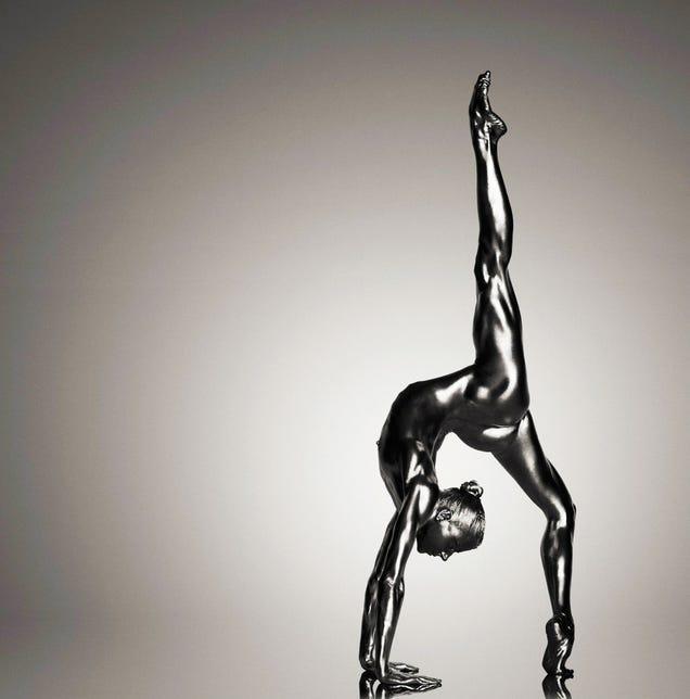 Photographer transforms women into beautiful metallic statues [NSFW]