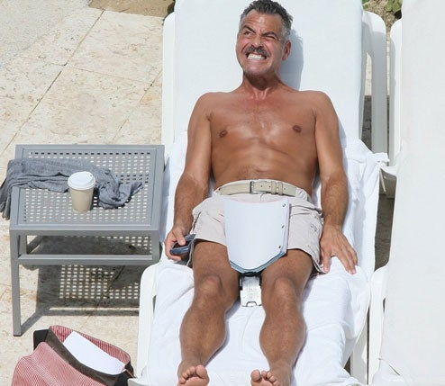 George Clooney Still Adjusting To Mustachioed Lifestyle