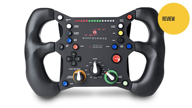 A 14-Button Motion-Sensing Steering Wheel Only a PC Gamer Could Love (Or Use)