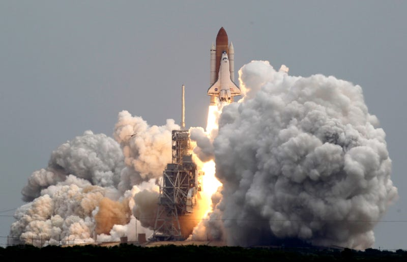 """Let's light this fire one more time"": The Space Shuttle Atlantis lifts off"
