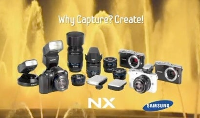 Maybe This is the White Samsung NX100 Mirrorless Camera?