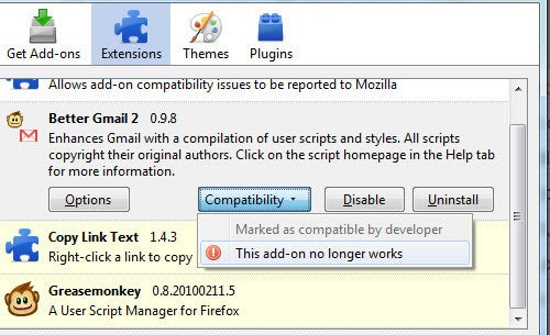 Add-On Compatibility Reporter Enables Incompatible Firefox Extensions, Reports If Still Not Working
