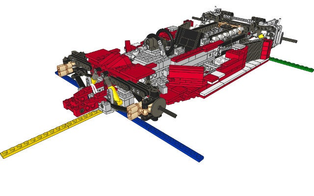 How to build a scale model of your childhood dream car with Legos
