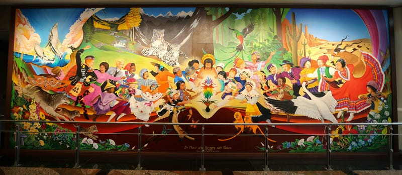 the denver airport will be a nazi paradise after our murals in the denver airport wtf