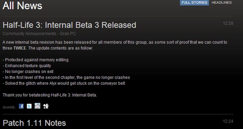 Steam Developer Accidentally Trolls Half-Life 3 Fans
