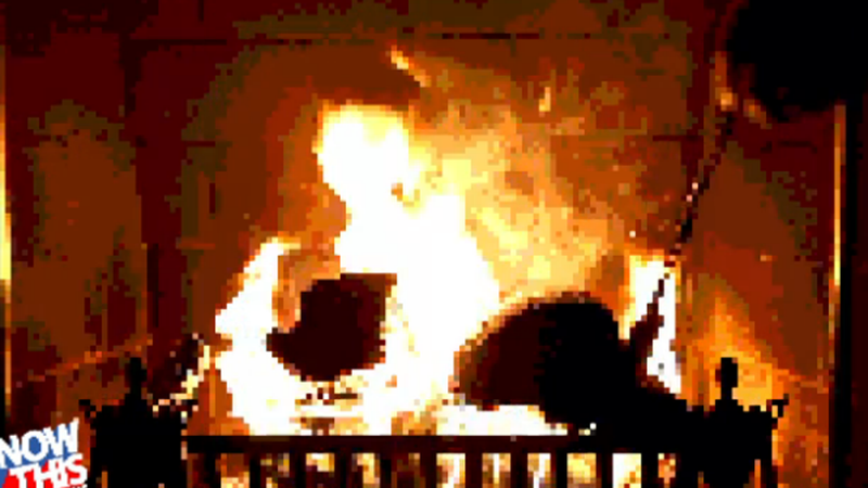 Cozy Up to an 8-bit Yule Log