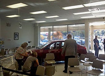 Man Crashes Into DMV After Passing Driver's Test