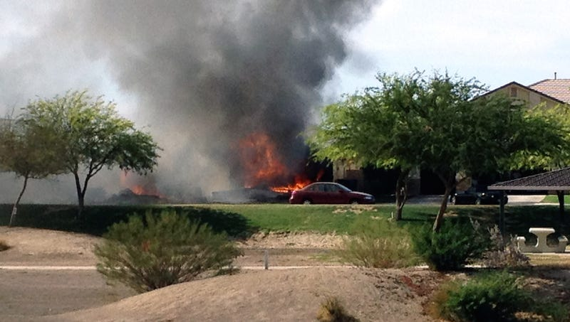 Military Jet Crashes Into Residential California Neighborhood