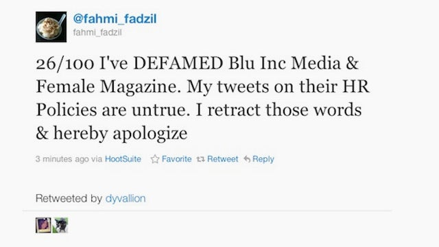 Guy Forced to Tweet 100 Apologies for Defaming Magazine