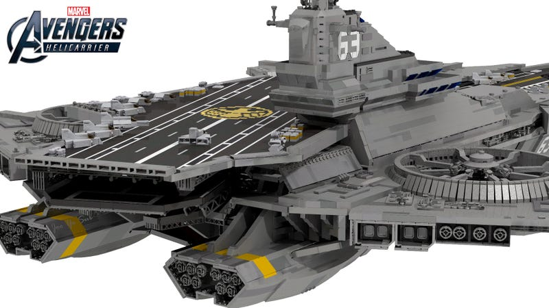 It Takes Over 22,000 Bricks Build A LEGO Avengers' Helicarrier