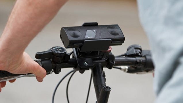 Strapping a Portable Speaker to Your Bike Sounds a Bit Douche-y