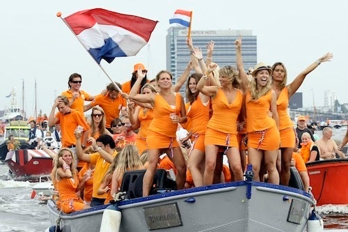 Dutch Fans Don't Need No Stinkin' World Cup