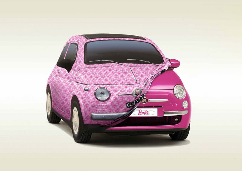Fiat 500 Barbie Edition: Celebrating 50 Years Of Shallowness With Jewels