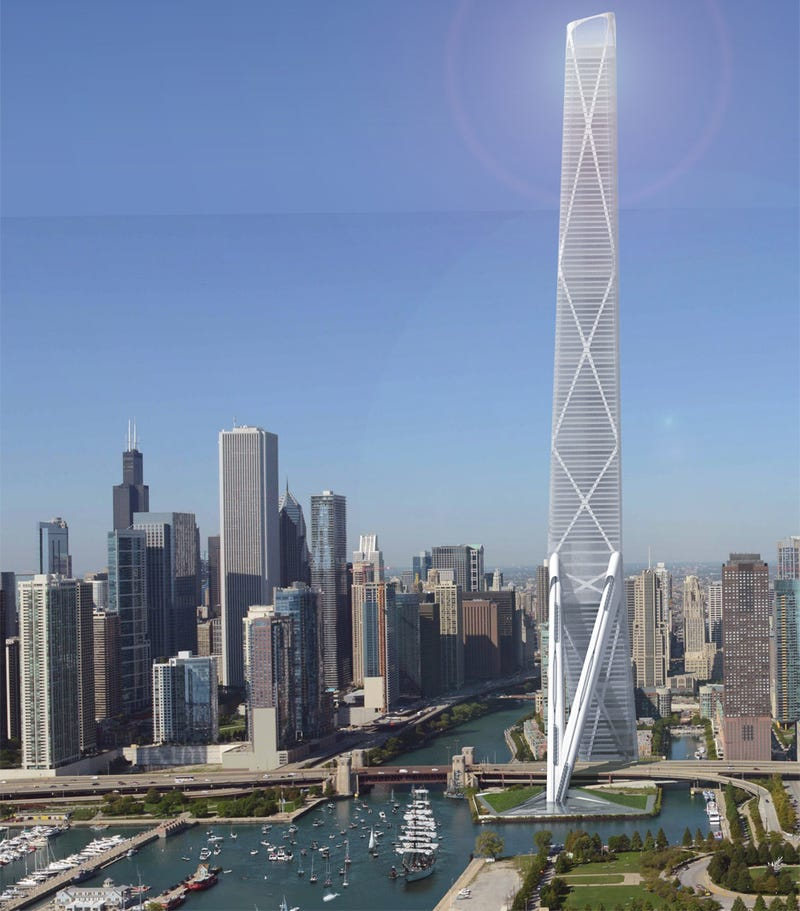 Chicago Might Plug Its Giant Hell Pit With a Highway-Straddling Skyscraper