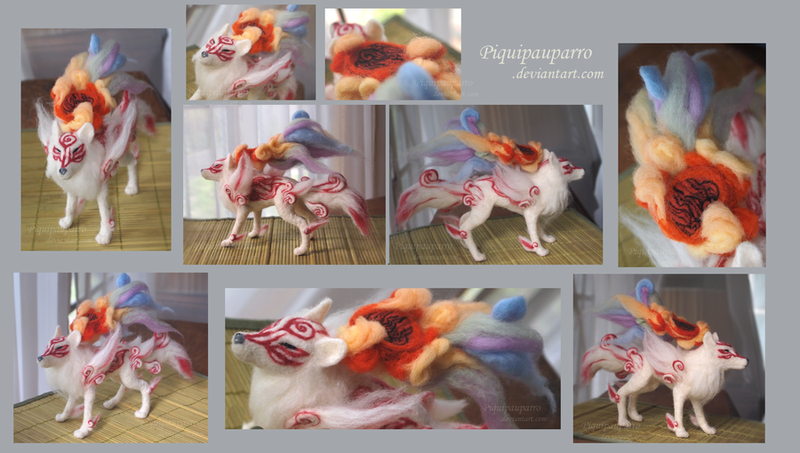 An Okami Figure That Looks Like it Was Made From The Skin of a Cloud
