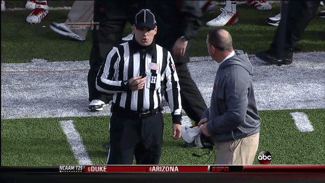 Furious Bo Pelini Nearly Hits Official With His Hat