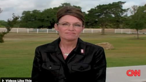 Sarah Palin on CNN: Blah Blah Obama Hates Israel and Wants to Rape My Daughter Blah