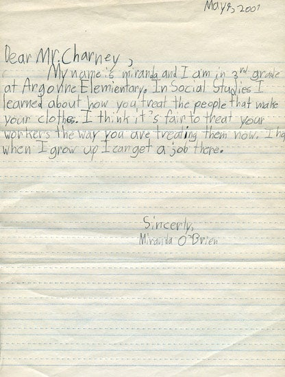 Sad Third Grader Hopes to Work For Dov Charney