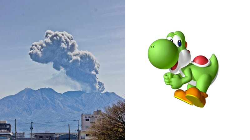 You'll Never Believe What Game Character This Volcano Erupted