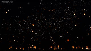 Watching lanterns fly up into the night sky is awe-inspiring