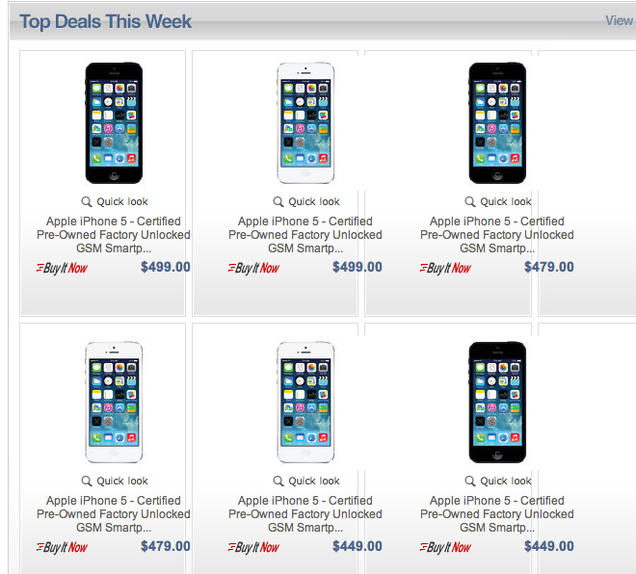 Apple's New Secret eBay Store Is Selling Cheap Refurbished iPhones