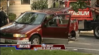 Patriots QB Tom Brady Intercepted By Minivan In Boston Wreck