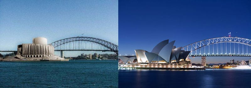 What the Sydney Opera House almost looked like, and other alternative monuments