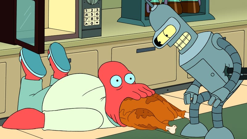 Futurama turns Bender into a god, and somehow all hell doesn't break loose