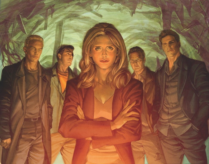 An exclusive sneak peek at the cover of Buffy's final graphic novel